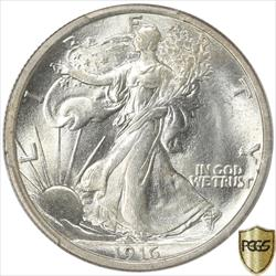 1916 Walking Liberty Half Dollar PCGS MS65 Frosty White GEM BU