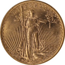 1922 Saint St. Gaudens $20 Gold Double Eagle Old Holder ANACS MS 62