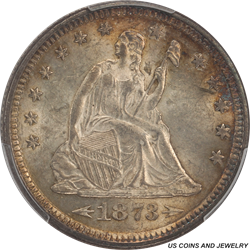 1873-P Seated Liberty Quarter with Arrows PCGS MS63 - Nice Original Coin