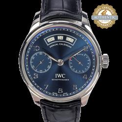 IWC Schaffhausen 44mm Portugieser Annual Calendar Blue Dial