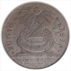 1787 FUGIO Cent PCGS MS63BN States Uni 4 Cinquefoils Variety