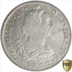 1790-L I.J. Carolus IV Eight Reales Silver  PCGS  AU53 Only 3 graded higher