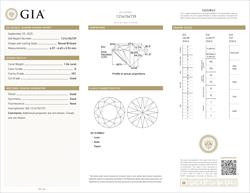 GIA Certified 1.06ct Round Brilliant Loose Diamond