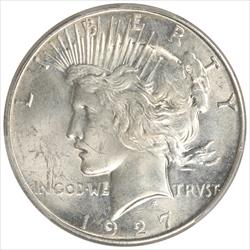 1927-S Peace Dollar PCGS MS62 Select Uncirculated
