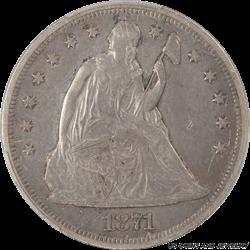 1871  Seated Liberty Dollar PCGS PCGS XF-45