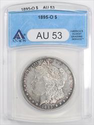 1895-O Morgan Silver Dollar ANACS  AU-53, Nice Peripheral Toning