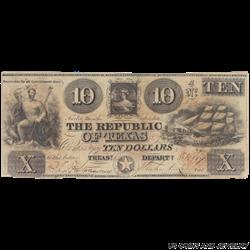 Republic of Texas $10 Notes (Random Years)