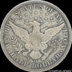 1912-D Barber Half Dollar ANACS