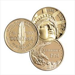 Modern $5 Gold Commemorative  - .900 Fine Gold - .2419 Troy oz AWG