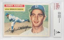 1956 TOPPS #79A SANDY KOUFAX GREY BACK BECKETT VG-EX 4