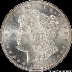 1897-S Morgan Silver Dollar PCGS MS-65
