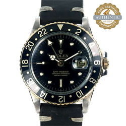 ROLEX 40mm GMT-Master TT SS and 18K YG Nipple Dial Head only w Box