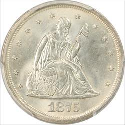1875-S Twenty Cent Piece PCGS MS65