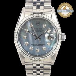Rolex 36mm Datejust RN/16030 Diamond Bezel MoP Diamond Dial Watch Only