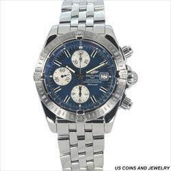 Breitling 44mm Chronomat Evolution A13356 Blue Dial