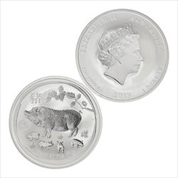 2019 Year of The Pig 1 oz .9999 Fine Silver