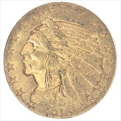 1916-S Indian Head  Circulated Almost Uncirculated - Nice and Original