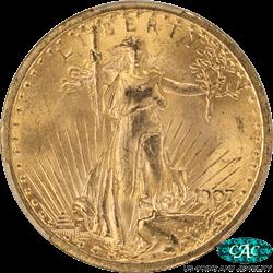 1907  Saint St. Gaudens $20 Gold Eagle PCGS CAC MS64