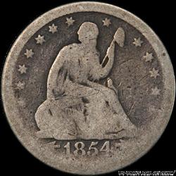 1854-O Seated Liberty 25C PCGS AG 03