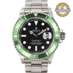 ROLEX 40mm Submariner 16610V 30B9325 KERMIT  With Box Seal and Papers