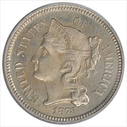 1873  Three Cent Nickel PCGS