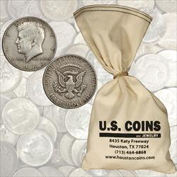 $50 Face Value- 90% Silver Half Dollars - 100 total coins 1964 and before