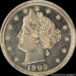 1903 Gem Proof Liberty Nickel PCGS PR-65