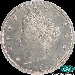 1883 No Cents Liberty V Nickel PCGS CAC MS66