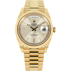 Rolex 40MM Day Date 228238 President with card tags and Box