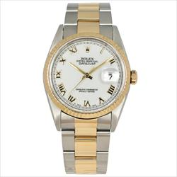 Rolex Datejust 36mm 16233 White Roman Dial Oyster Bracelet w/ papers and box