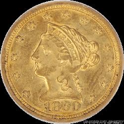 1850-O Liberty Head PCGS MS 58