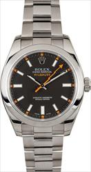 Rolex Milguass 40mm RN/116400 Box and Papers SNV089675