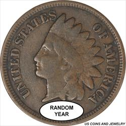 1865-1909 Indian Head Cent  Good or Better