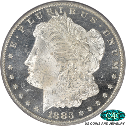 1883-O Morgan Silver Dollar PCGS MS-64 DMPL (CAC) MS-64 DMPL CAC