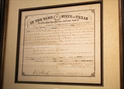 IN THE NAME OF THE STATE OF TEXAS LAND GRANT 1879