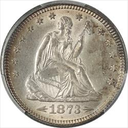 1873 Seated Liberty  PCGS MS 62 With Arrows