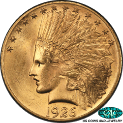1926 Indian $10 Gold Eagle PCGS and CAC MS64 Frosty Choice BU Gold