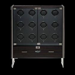 1834 Regent 12 pc Cabinet Watch Winder Matte Zebra