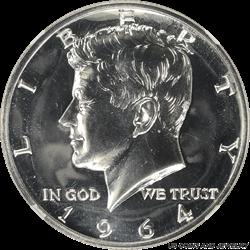 1964  Kennedy Half Dollar Accented Hair Proof NGC PR65 GEM Proof