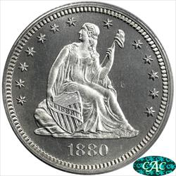 1880 Seated Liberty Quarter PCGS