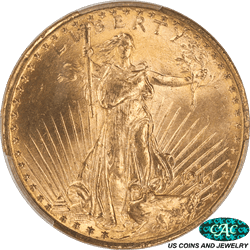 1911-D St. Gaudens $20 Gold Double Eagle PCGS MS65 CAC - Brilliant, Original