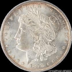 1878 Morgan Silver Dollar 7/8TF  Strong PCGS MS64
