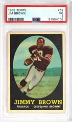 1958 TOPPS #62 Jim Brown PSA