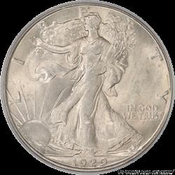 1929-D Walking Liberty Half Dollar PCGS MS-64