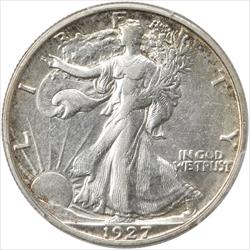 1927-S Walking Liberty Half Dollar PCGS AU50