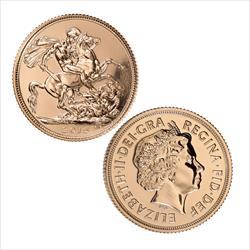 RANDOM DATE Great Britain One Pound Sovereign Gold .2354 oz Gold