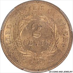 1864 Two Cent Piece Large Motto PCGS