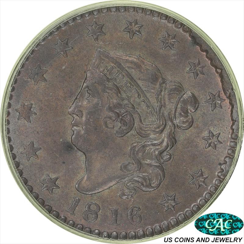 1816 Coronet Large Cent PCGS and CAC