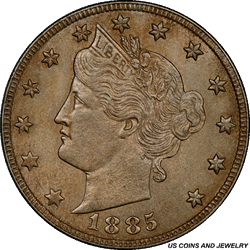 1885 Liberty Head Nickel PCGS MS63 - Low Mintage and Rare in Higher Grades!!