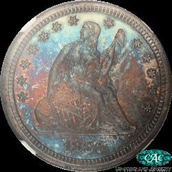 1883 Seated Liberty Quarter Proof NGC CAC  PR67+